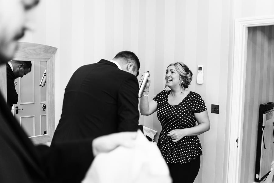 groom getting ready photos for a wedding in Tunbridge Wells